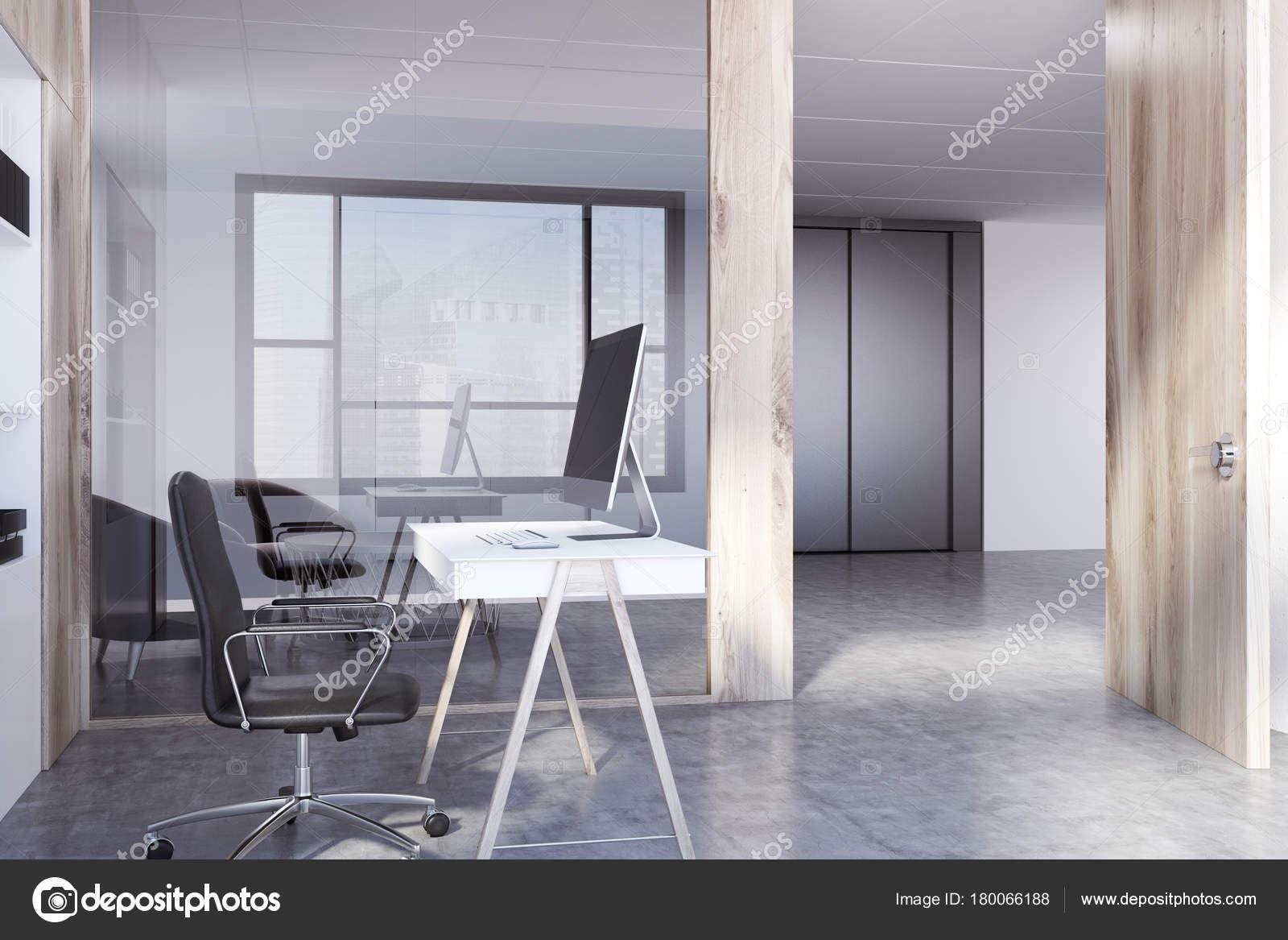 Coin bureau espace blanc et en bois u2014 photographie denisismagilov