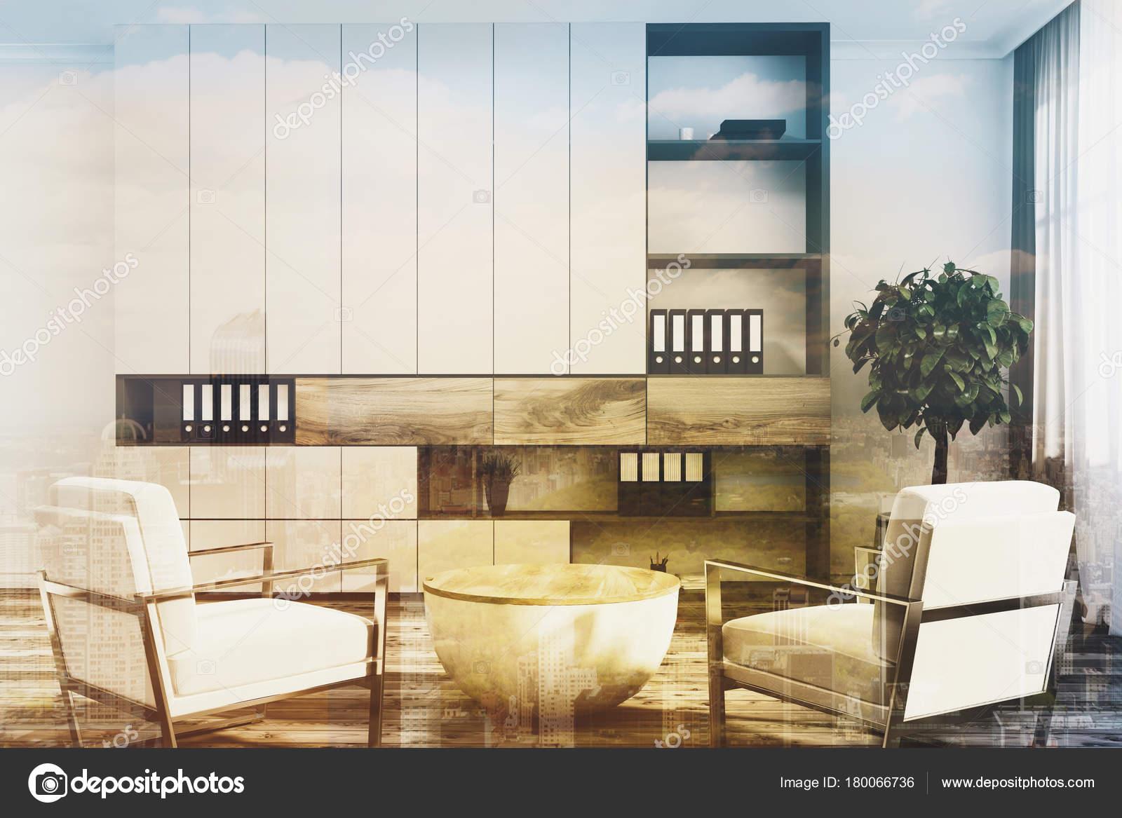 Ufficio Di Lusso : Poltrone da ufficio bianco bianco di lusso doppie u foto stock