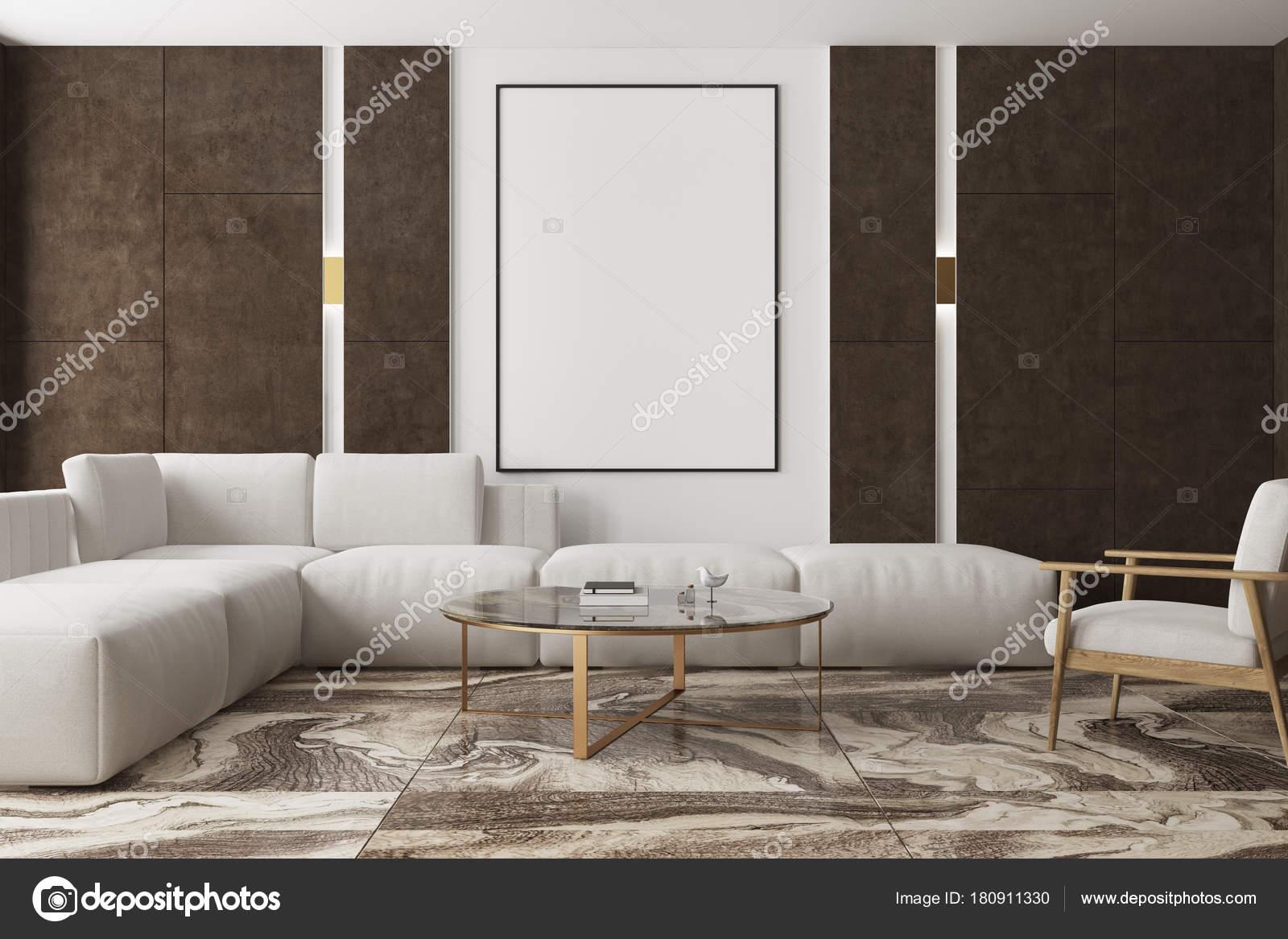 Marmer In Woonkamer : Marmeren en bruine woonkamer poster u stockfoto denisismagilov