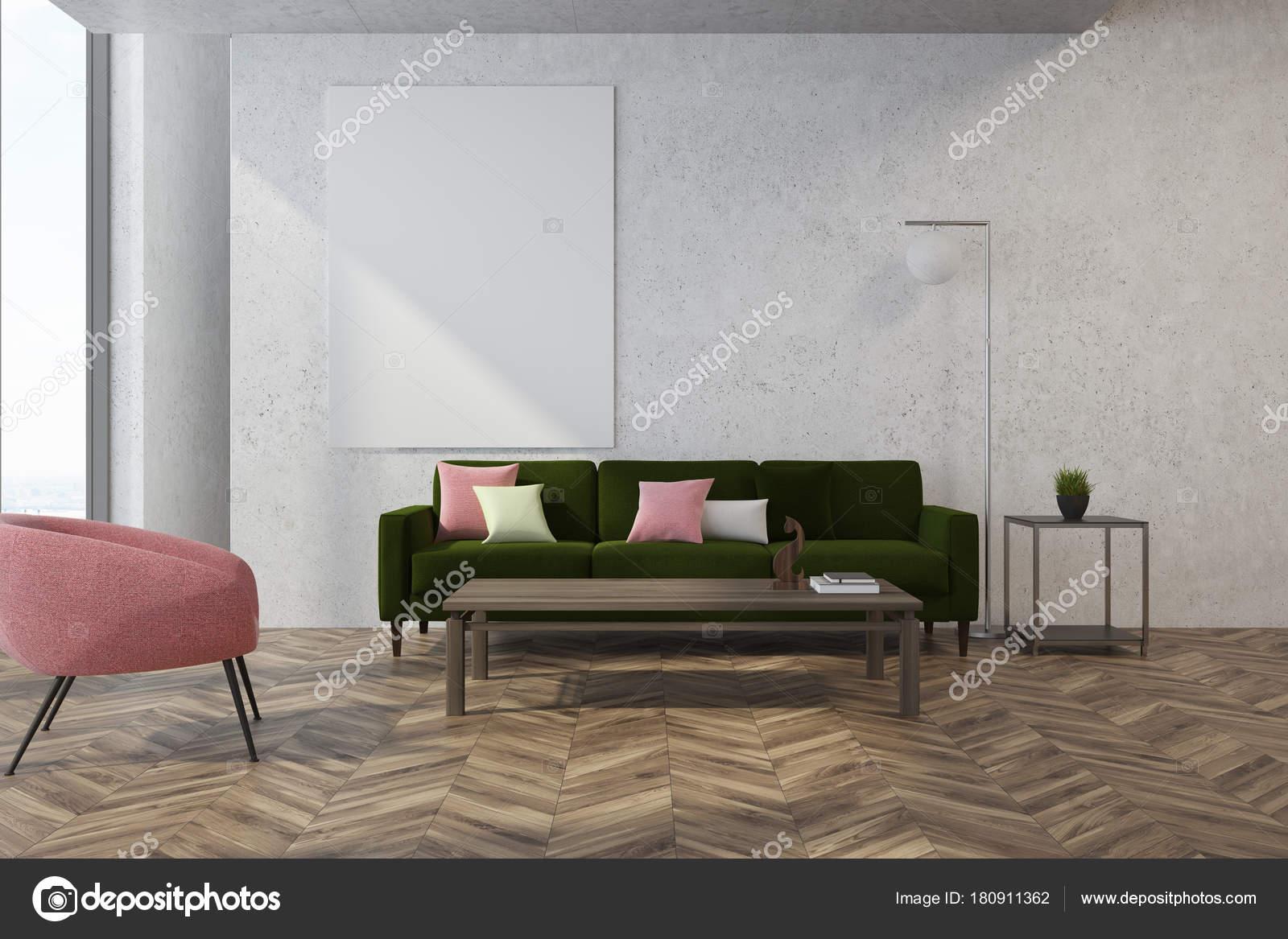 Roze Decoratie Woonkamer : Wit woonkamer roze fauteuil u stockfoto denisismagilov