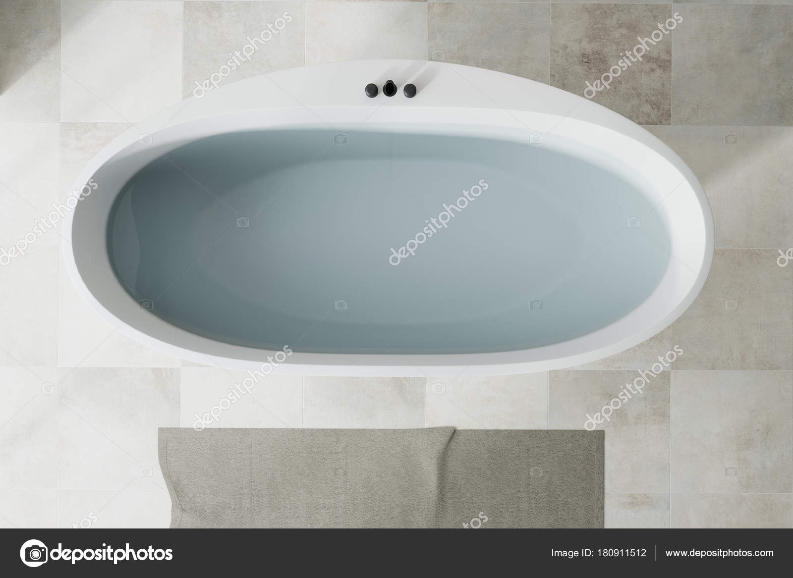 White bathroom white tub top view — Stock Photo © denisismagilov ...