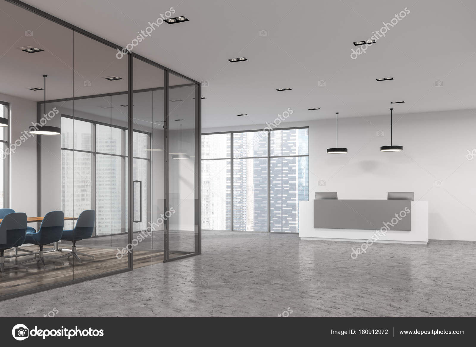 Tagungsraum Glas corner, Rezeption — Stockfoto © denisismagilov ...