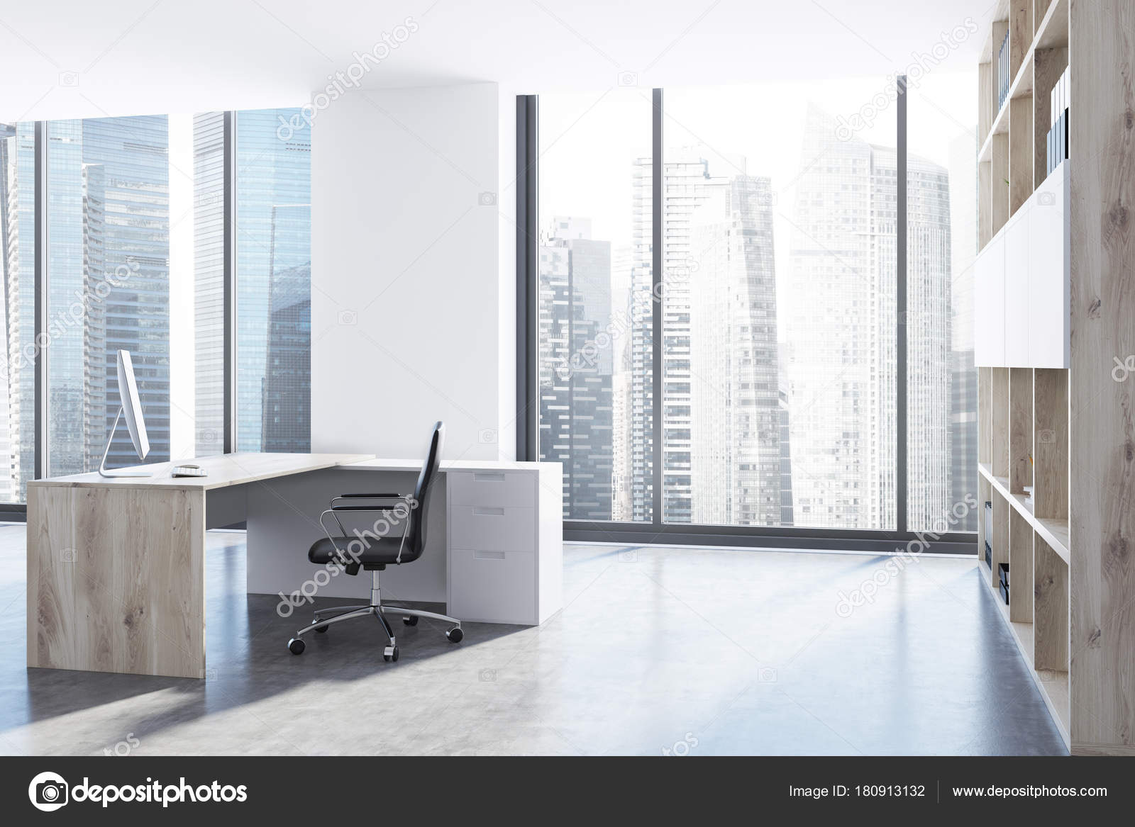 Modern CEO office side view Stock Photo denisismagilov 180913132