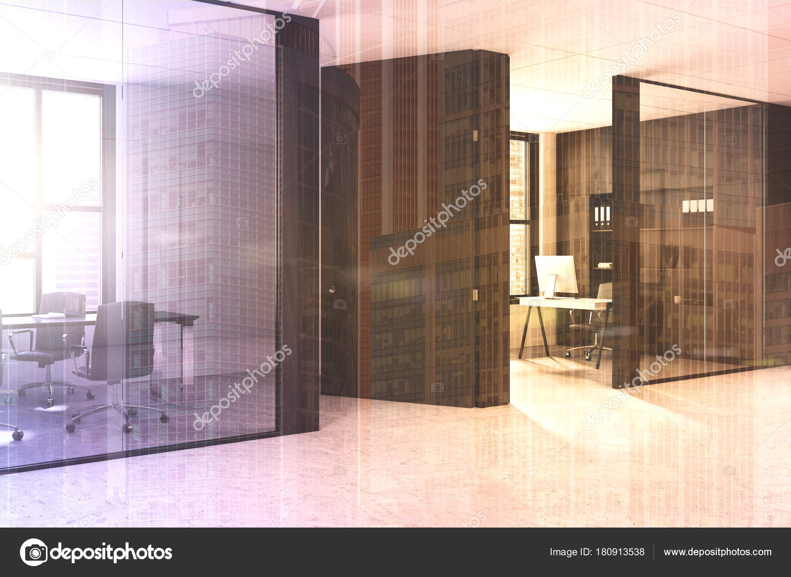 Modern Office Lobby Interior Stock Photo Denisismagilov 180913538