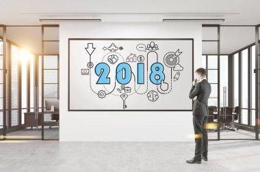 Thoughtful businessman 2018 business plan