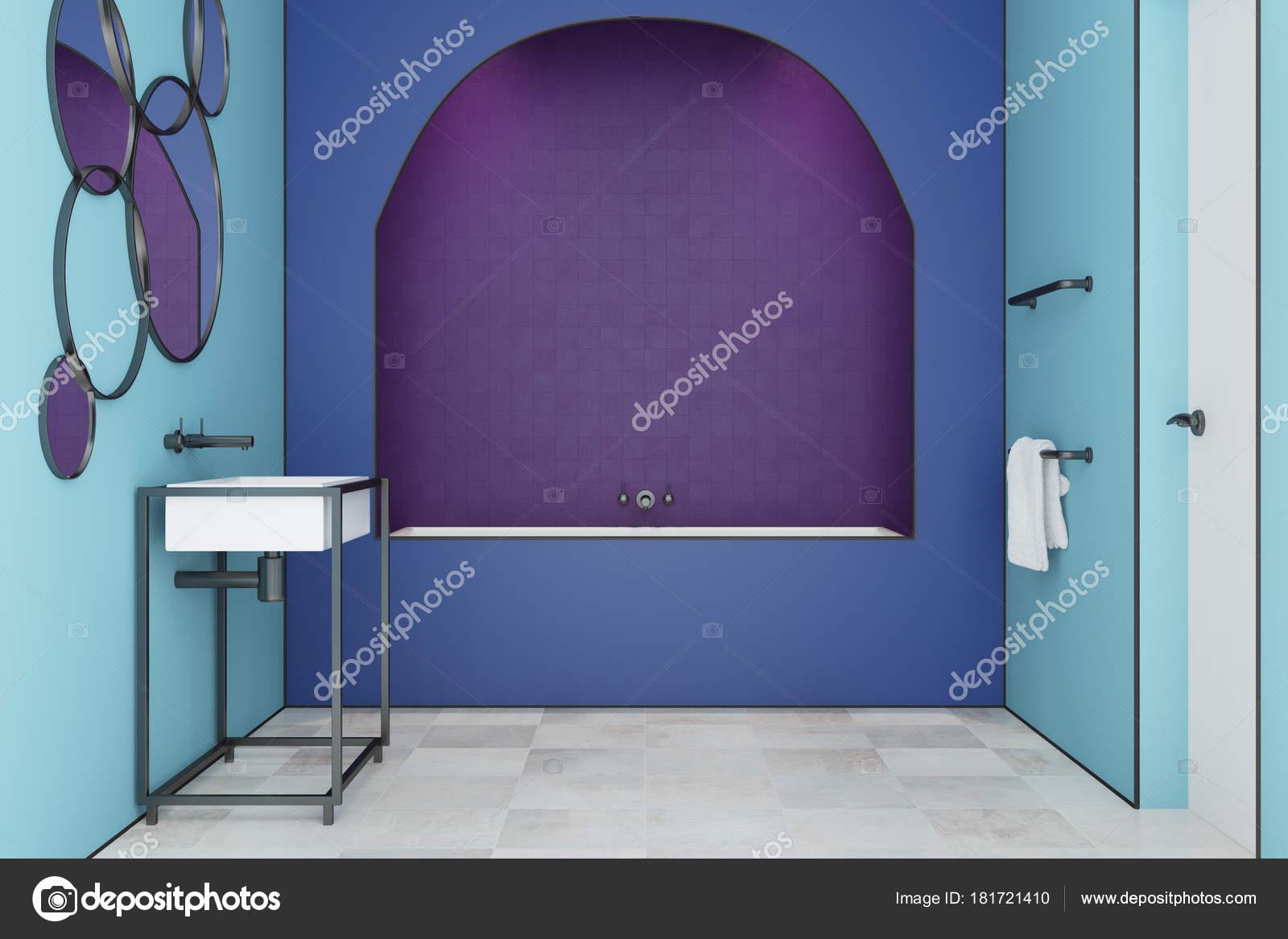 Blu bagno moderno tegole toled bianco
