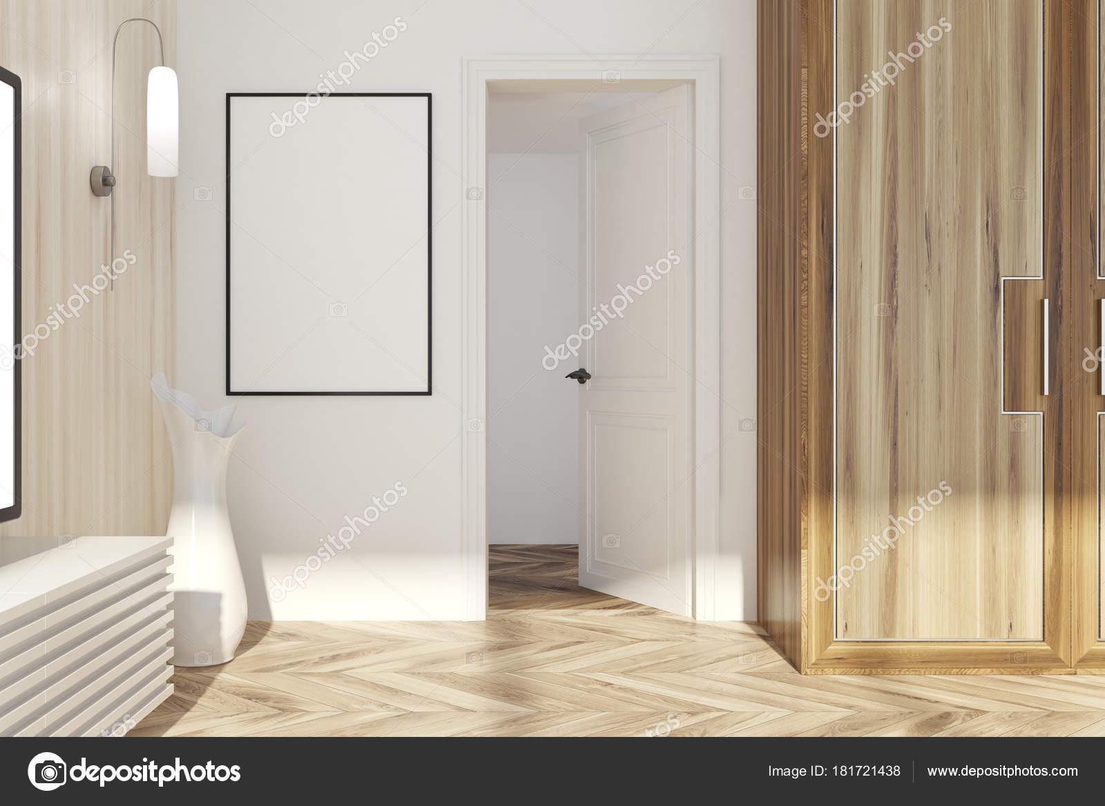 Witte en lichte woonkamer houten, deur — Stockfoto © denisismagilov ...