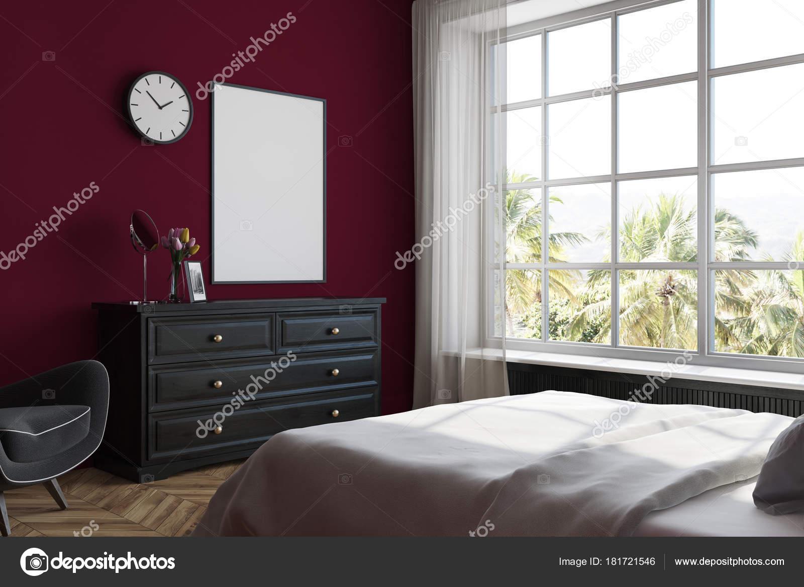 Stanze Da Letto Rosse : Angolo camera da letto rossa poster comò u foto stock