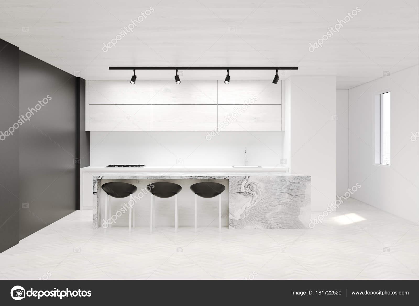 Cucina bianca e grigia — Foto Stock © denisismagilov #181722520