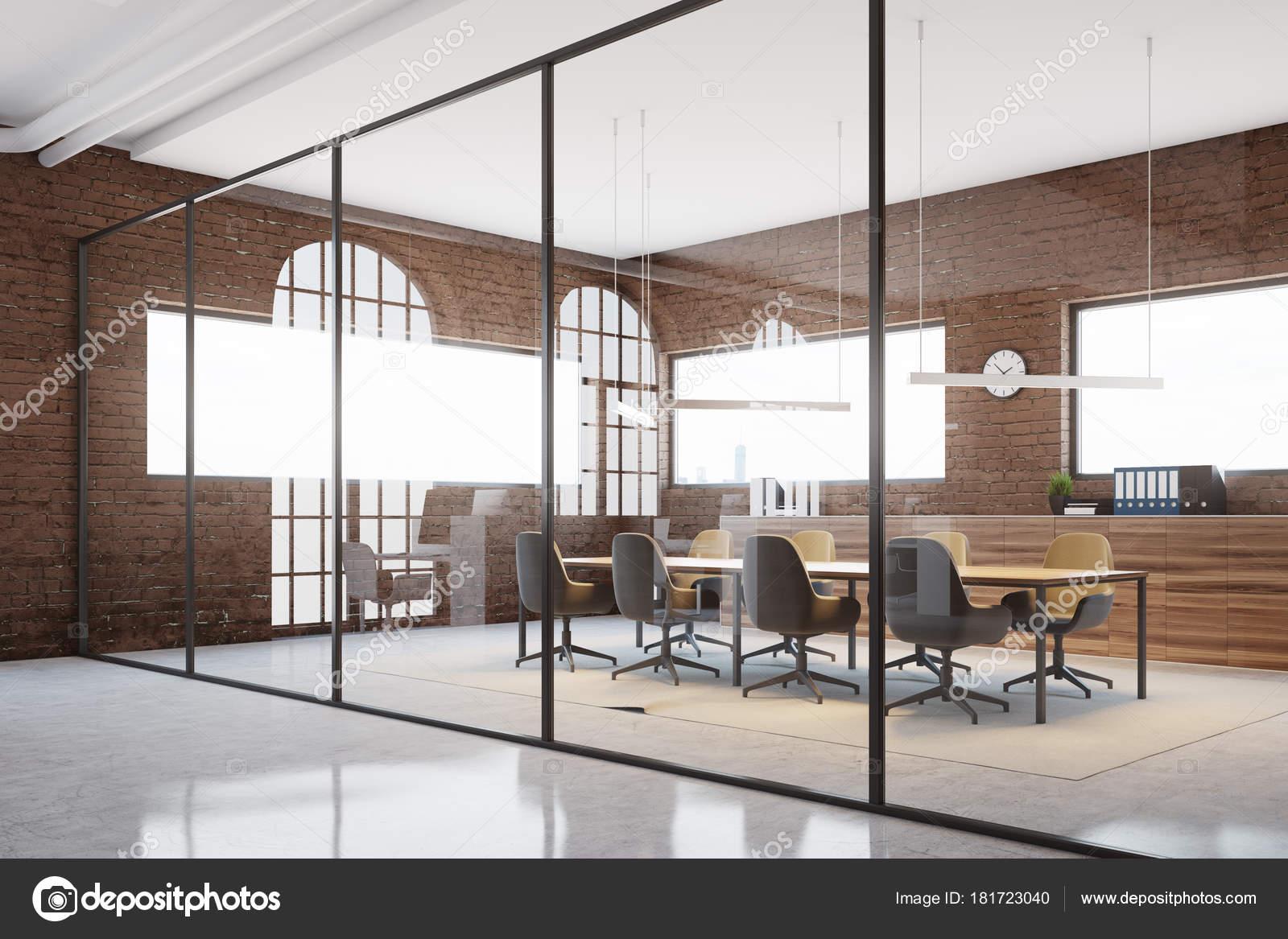 Oficina cub culos en ladrillo y blanco oficina foto de for Cubiculos para oficina precios