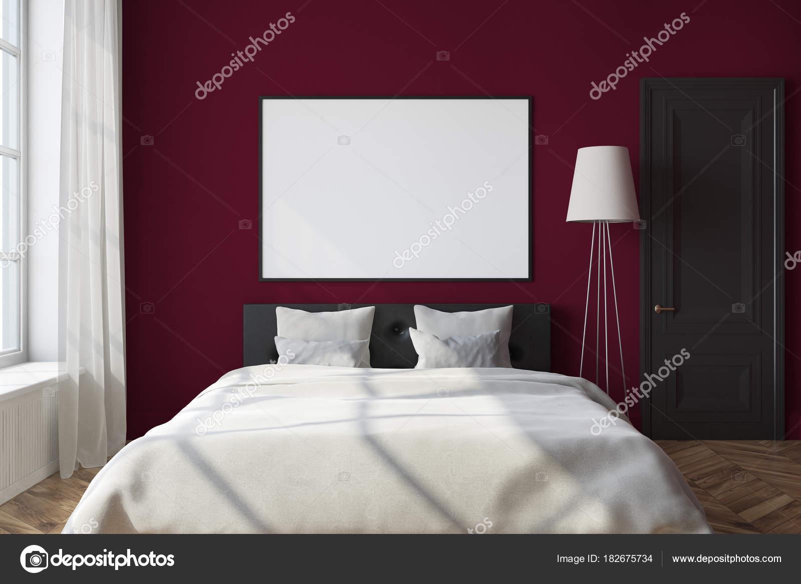 Affiche intérieure, encadrée de chambre rouge — Photographie ...