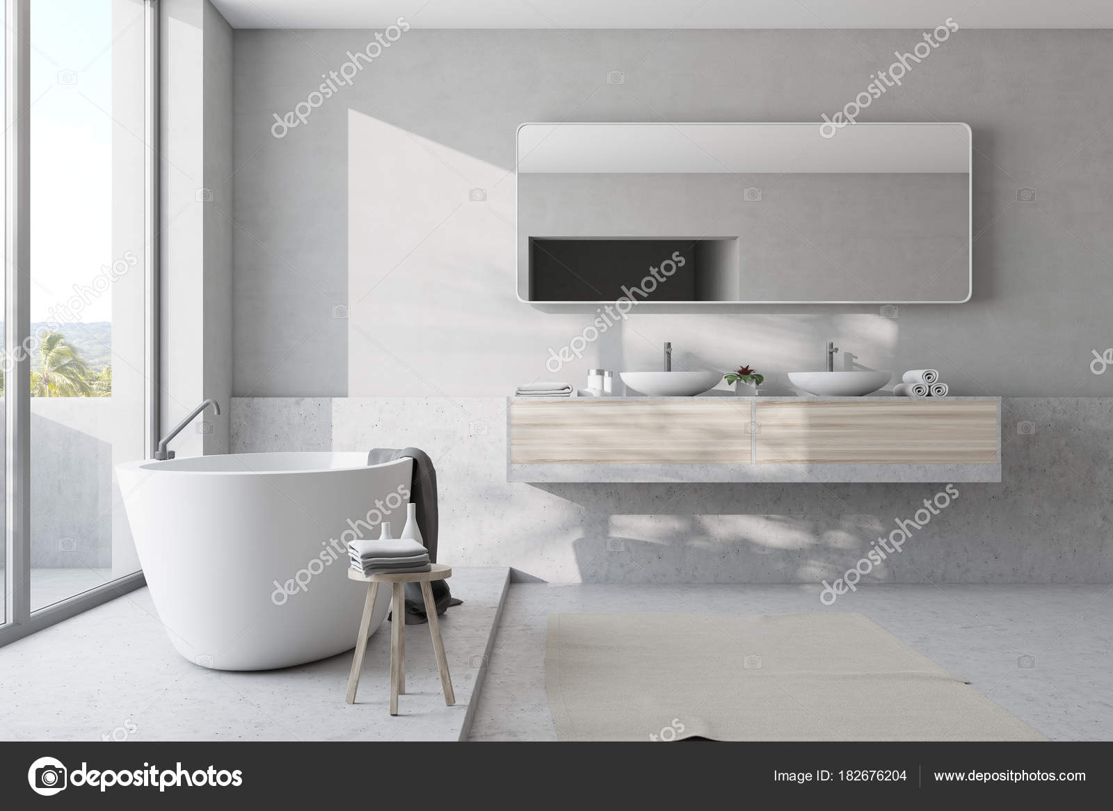 Witte Badkamer Wastafel : Witte badkamer badkuip en wastafel u stockfoto denisismagilov