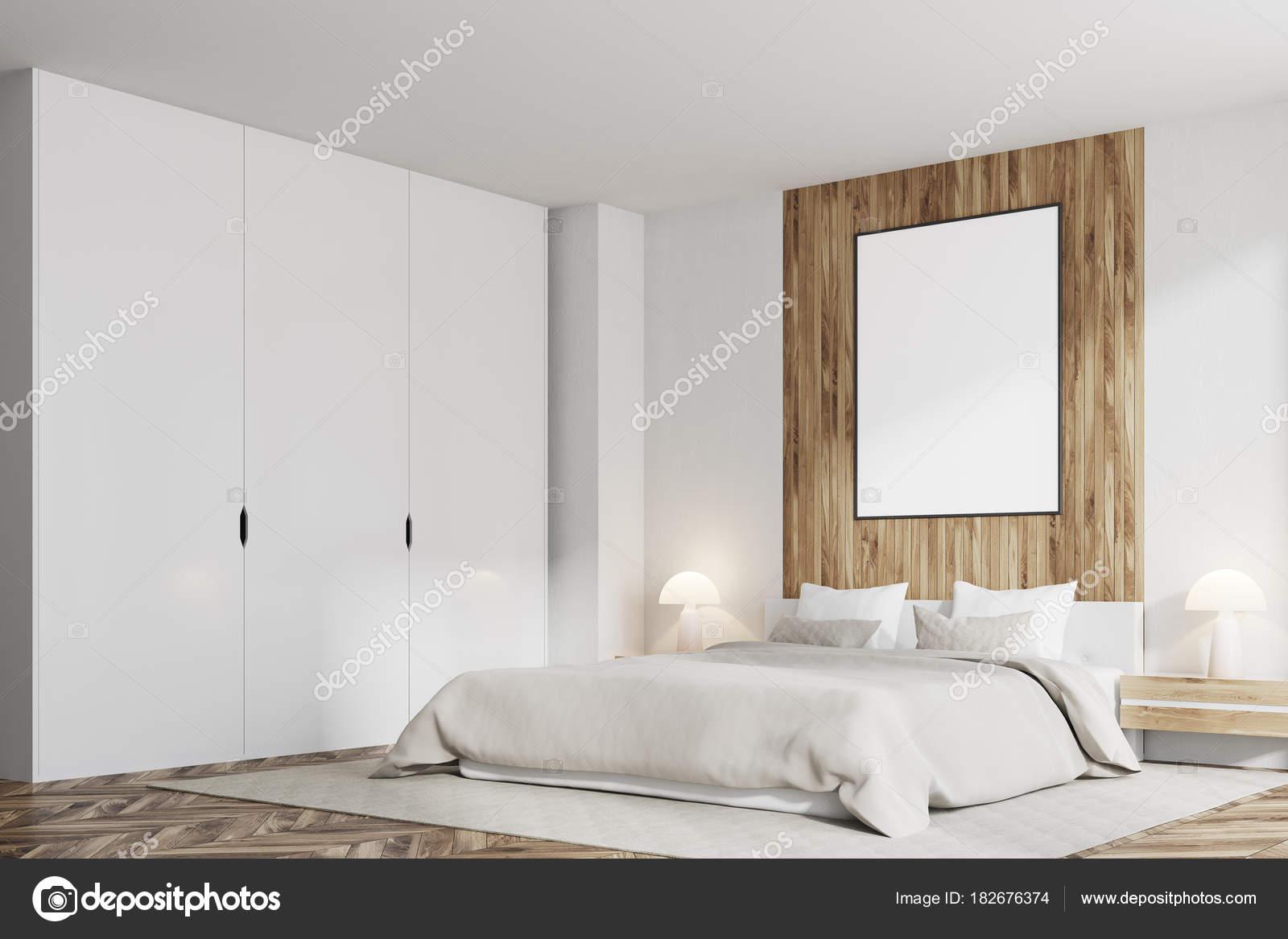 Camera Da Letto Legno Bianco : Interno bianco della camera da letto con letto matrimoniale