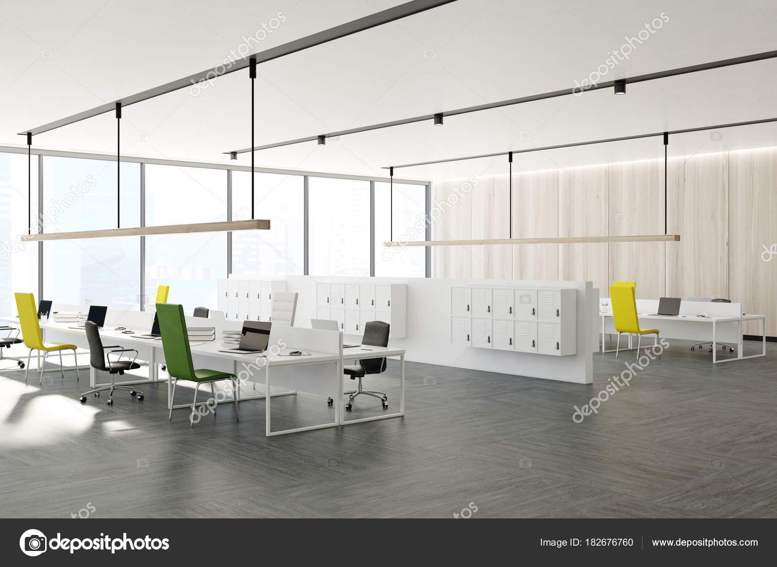 Coin bureau chaises jaune noir et vert u photographie
