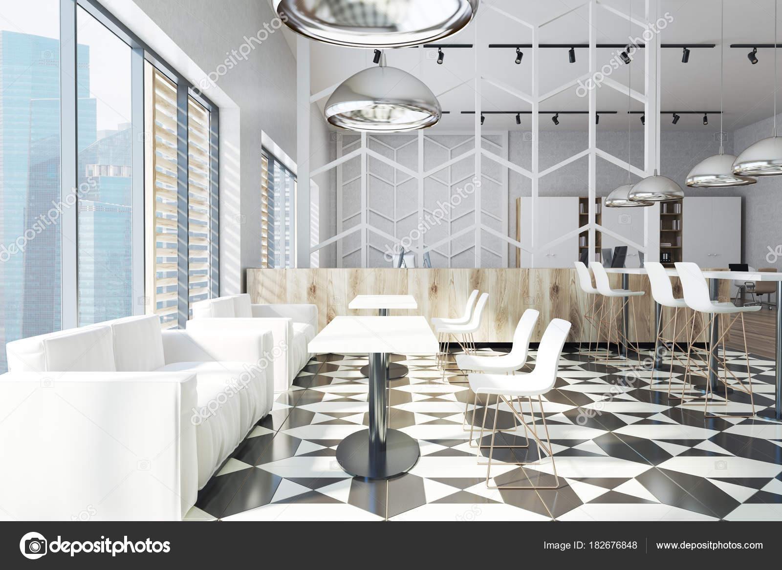 Canapés de zone blanc bureau salle à manger u2014 photographie
