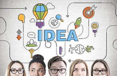 Diverse business team brainstorming, head, idea