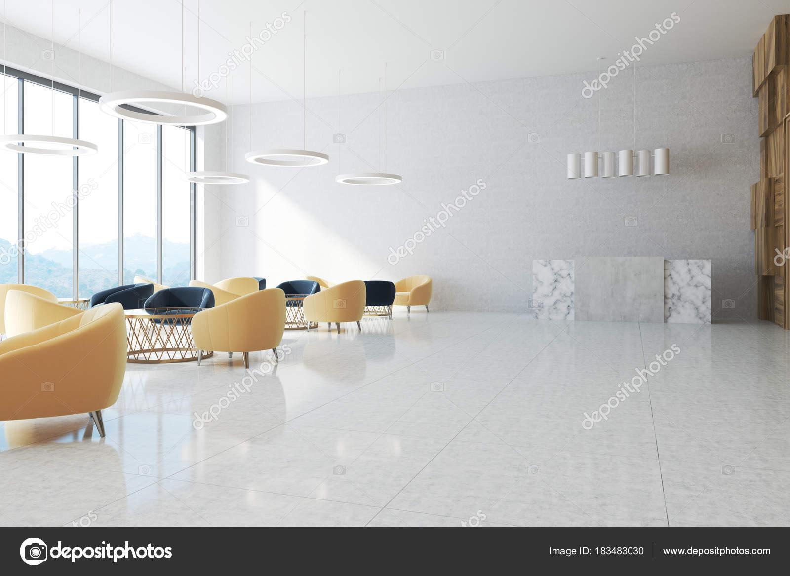 Area di attesa bianco dellufficio reception u2014 foto stock