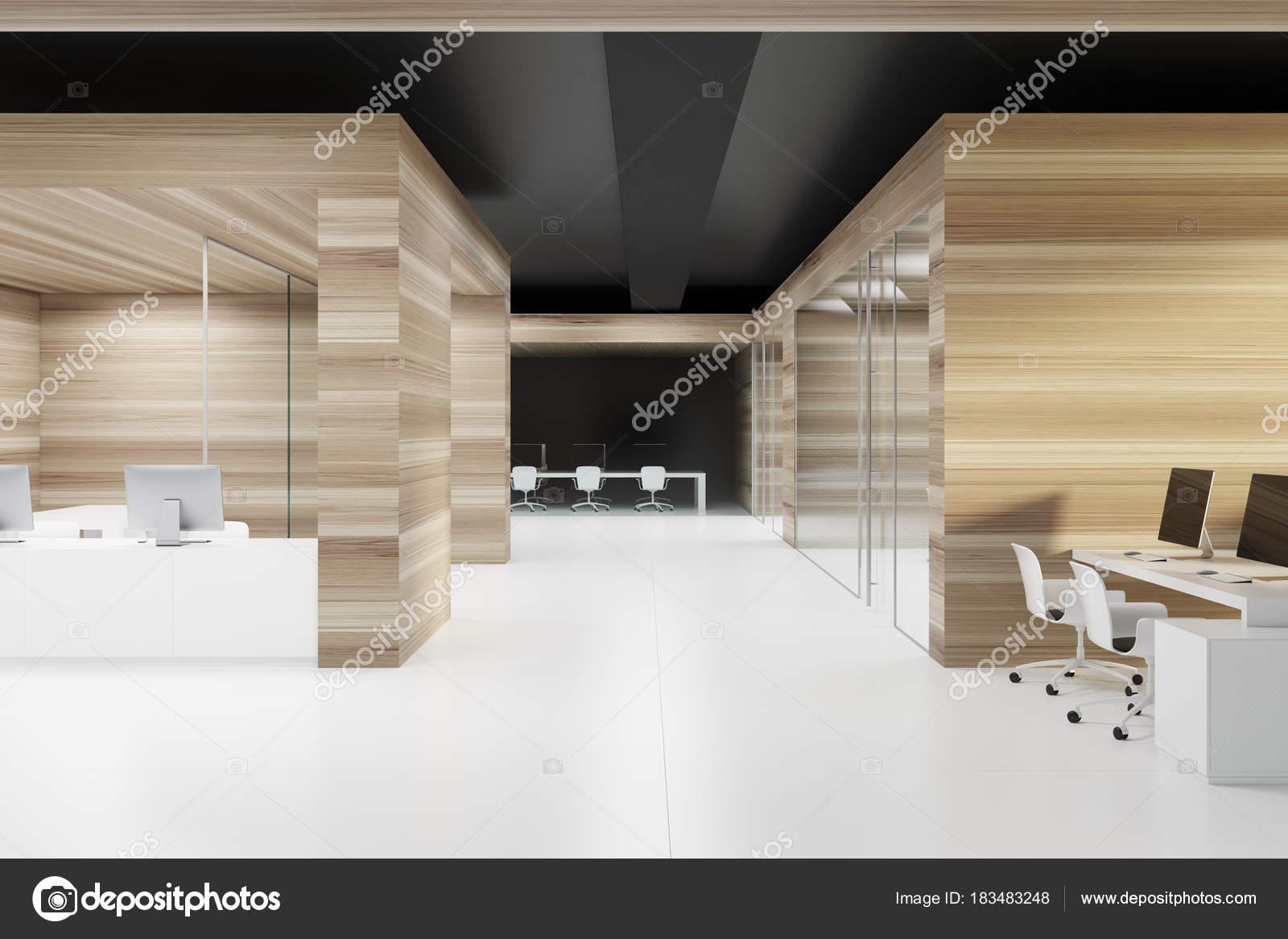Plafond de mur en bois bureau noir u photographie denisismagilov