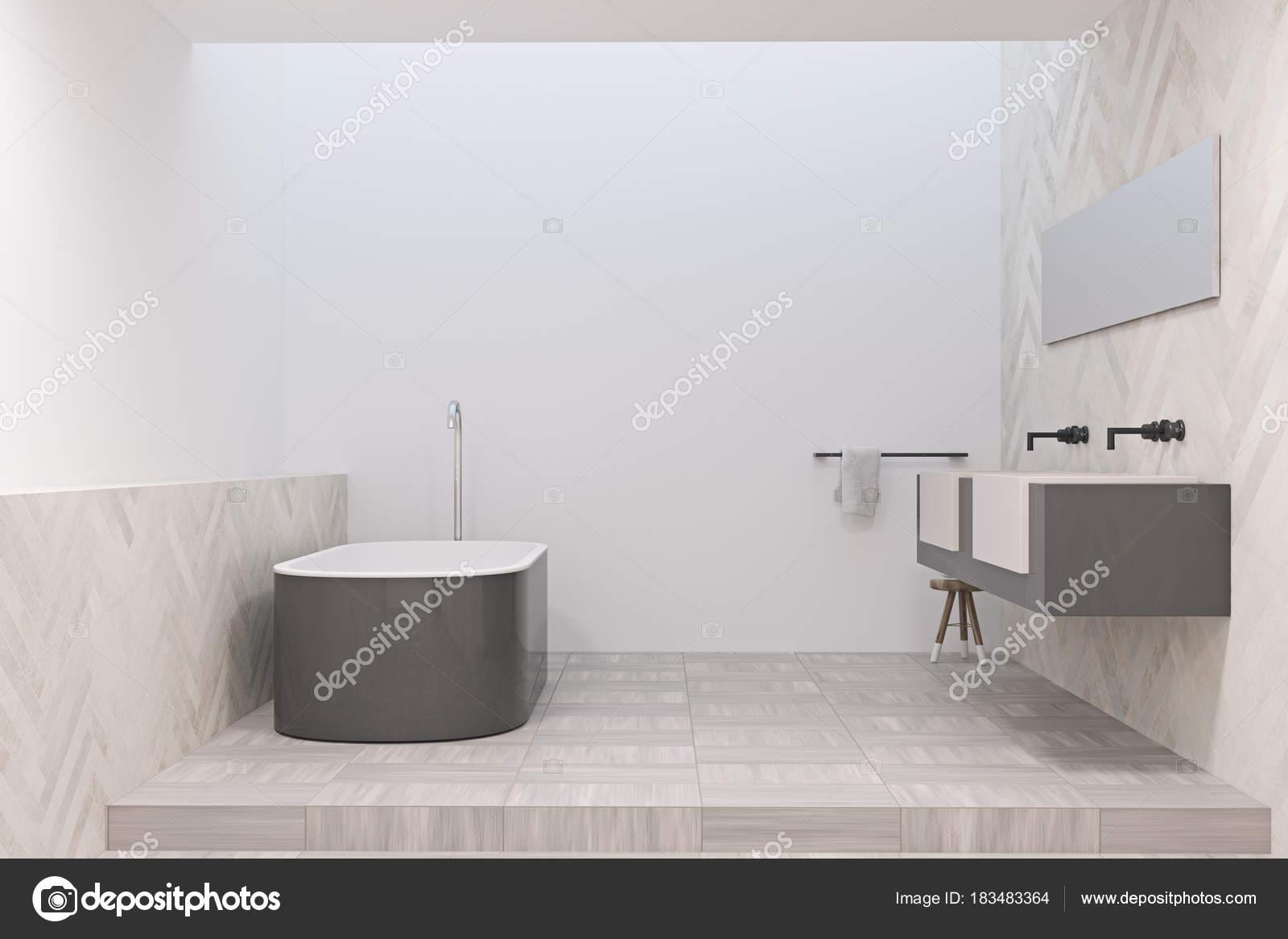 Moderne badkamer met een grijze badkuip u2014 stockfoto © denisismagilov