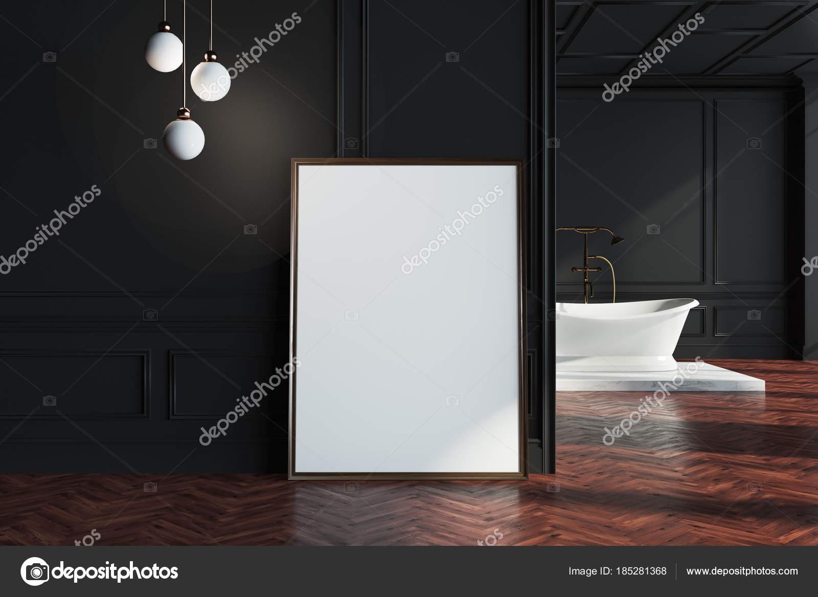 Salle De Bain Mur Noir ~ salle de bain mur noir affiche pr s du mur photographie