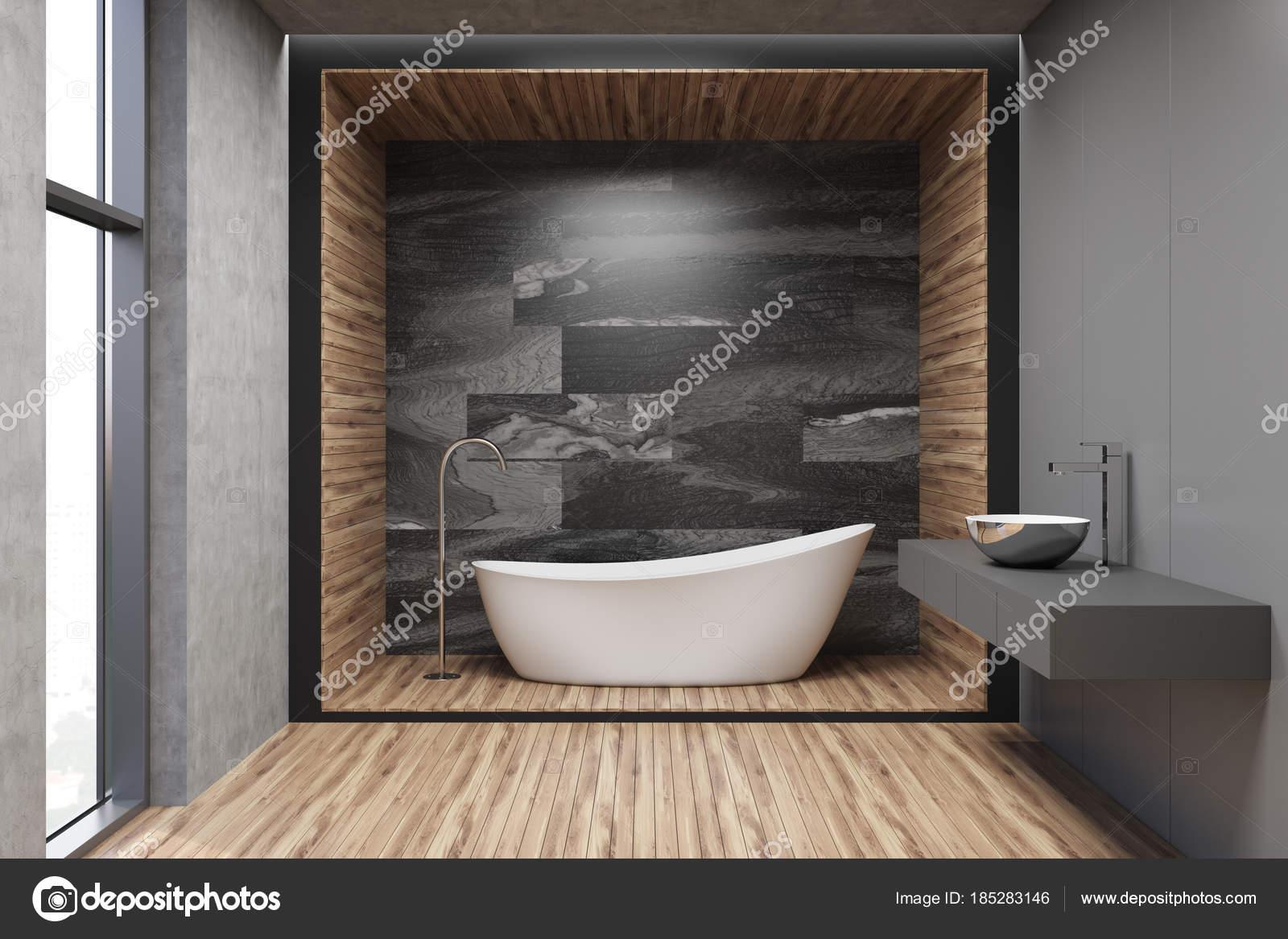 Szary Drewna Marmuru I łazienka Zdjęcie Stockowe