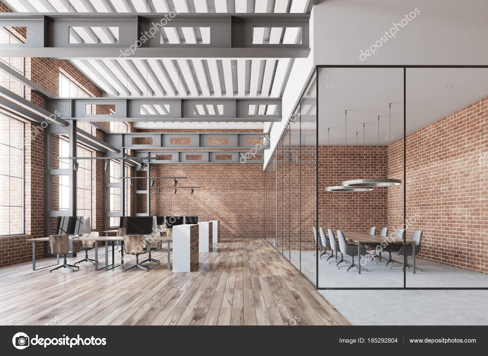 Loft bureau open space salle de conférence brique u2014 photographie