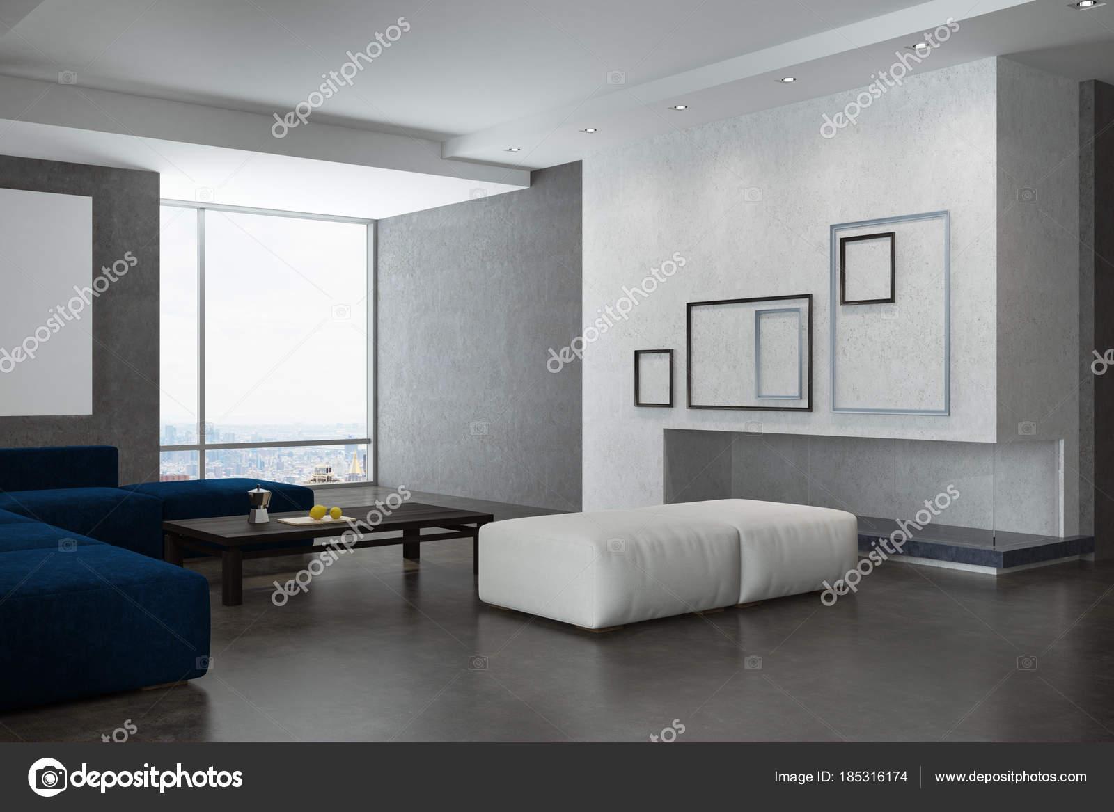 Leuke Posters Woonkamer : Witte en grijze woonkamer hoek posters u stockfoto