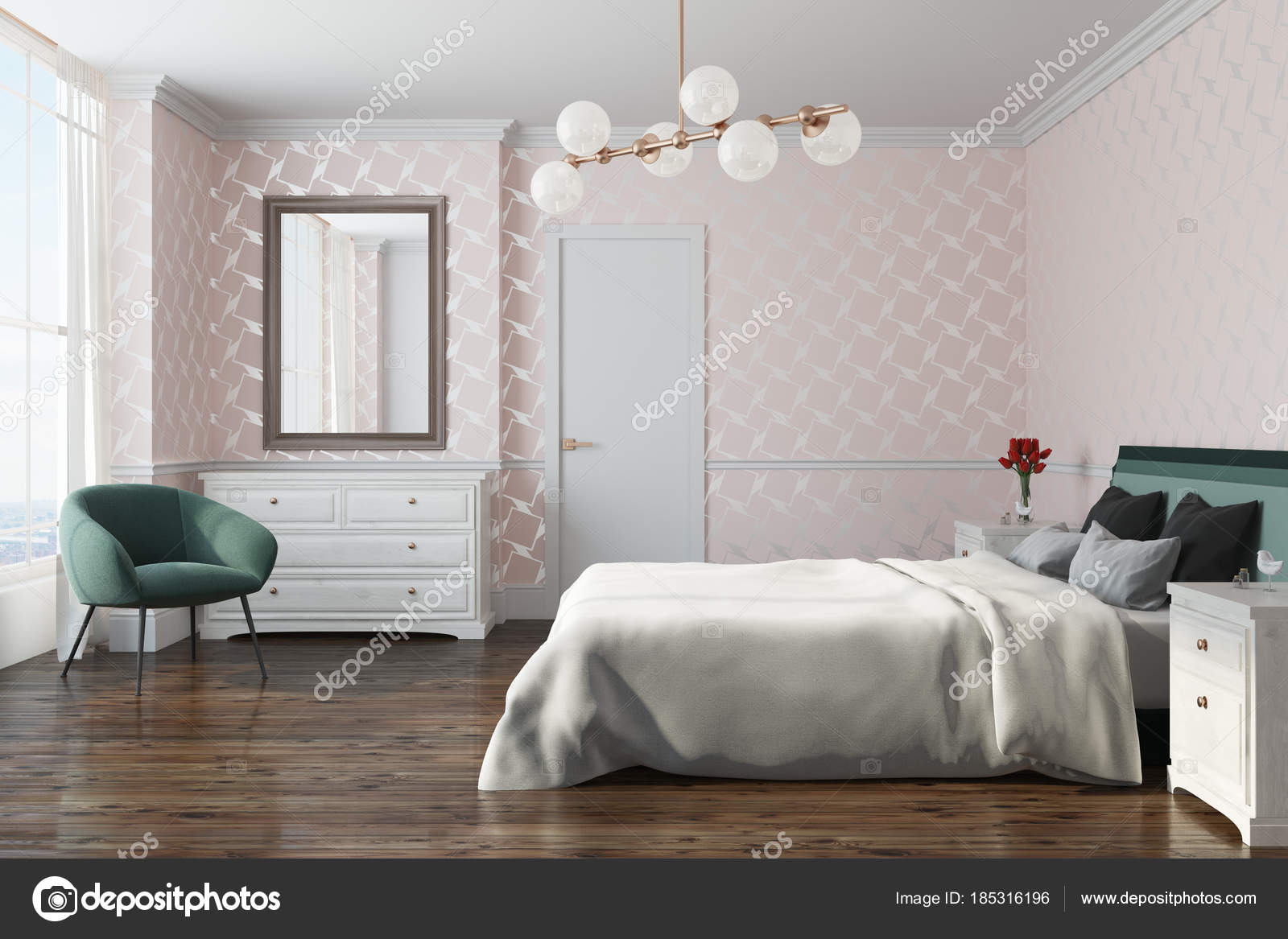 depositphotos stock photo white pattern bedroom armchair side