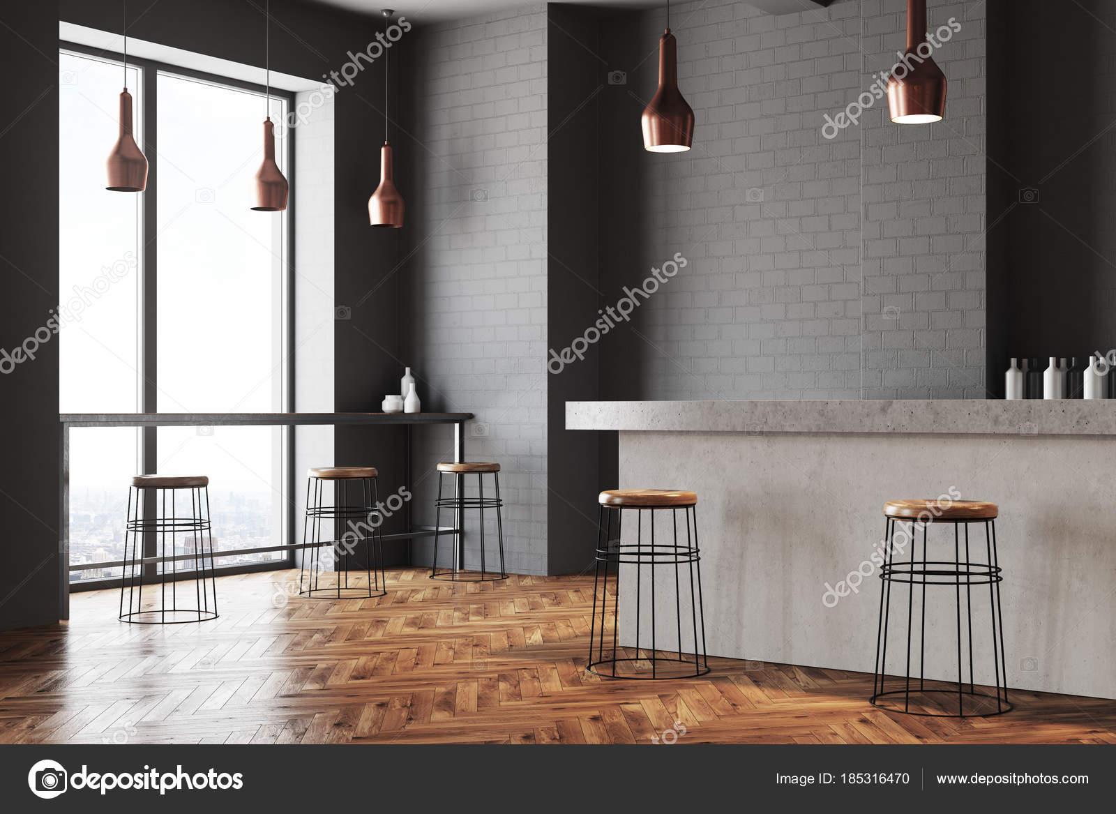 580446133cb2 Gris café y barra de pared esquina — Foto de stock © denisismagilov ...