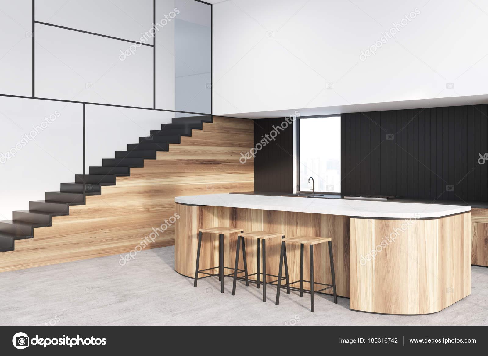 Keuken Met Trap : Woonkamer met open keuken inspirerende ruimtelijke woonkamer met
