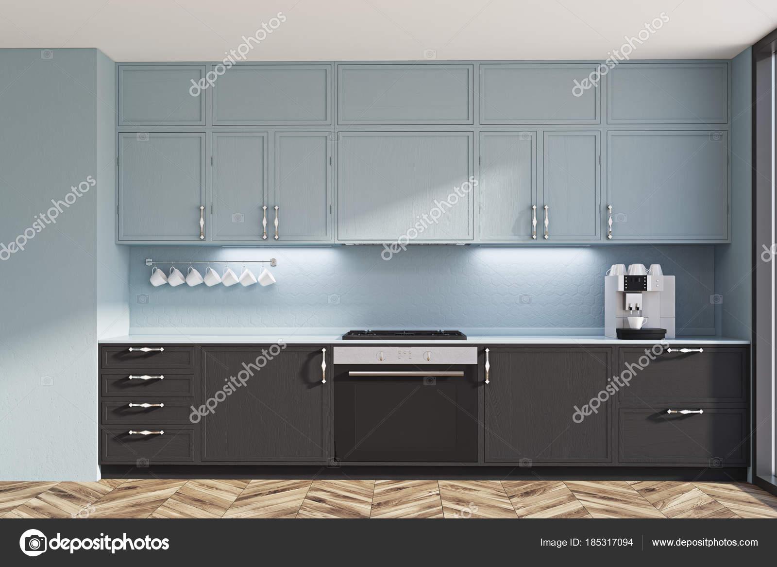 Zwarte Keuken Ideeen : Grijze en zwarte originele keuken idee u2014 stockfoto © denisismagilov