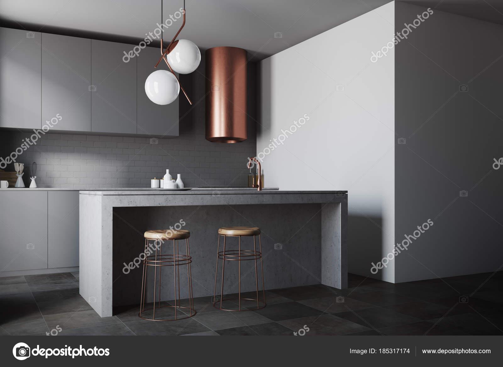 Piani cucina, grigio scuro grigio muro — Foto Stock © denisismagilov ...