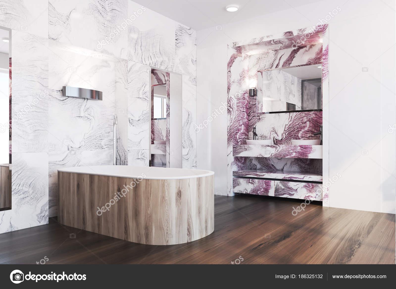 White And Red Marble Bathroom Corner Stock Photo C Denisismagilov 186325132