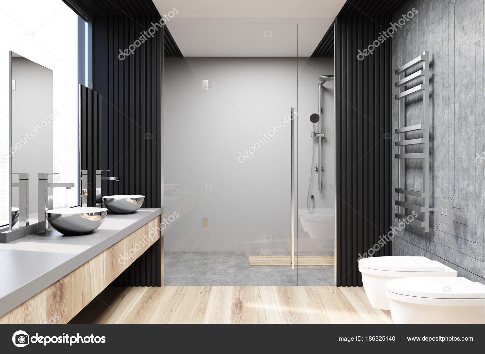 Betonfußboden Im Bad ~ Grau und beton badezimmer interieur eine dusche u2014 stockfoto