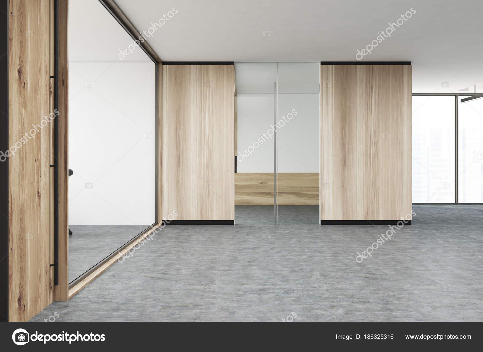 Ufficio Legno E Vetro : Ingresso dellufficio di soppalco in legno e vetro u2014 foto stock
