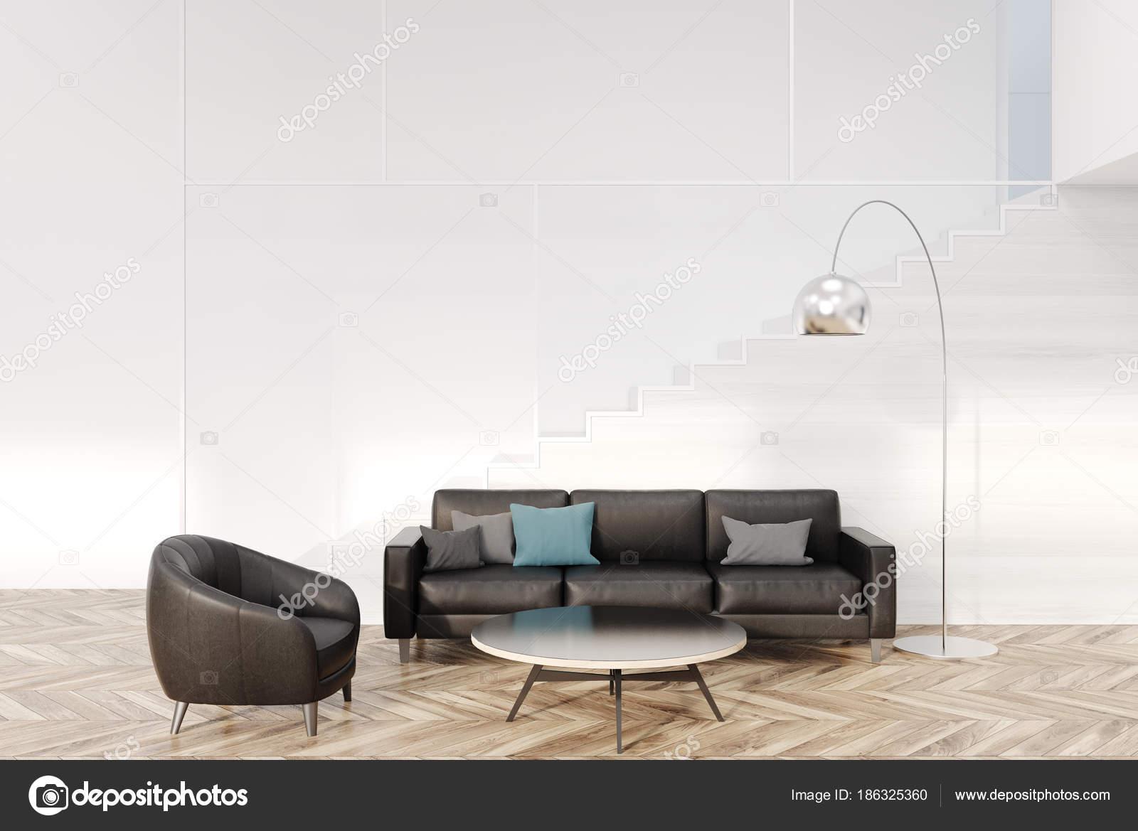 Divano Nero E Bianco : Salone bianco nero divano e poltrona u foto stock