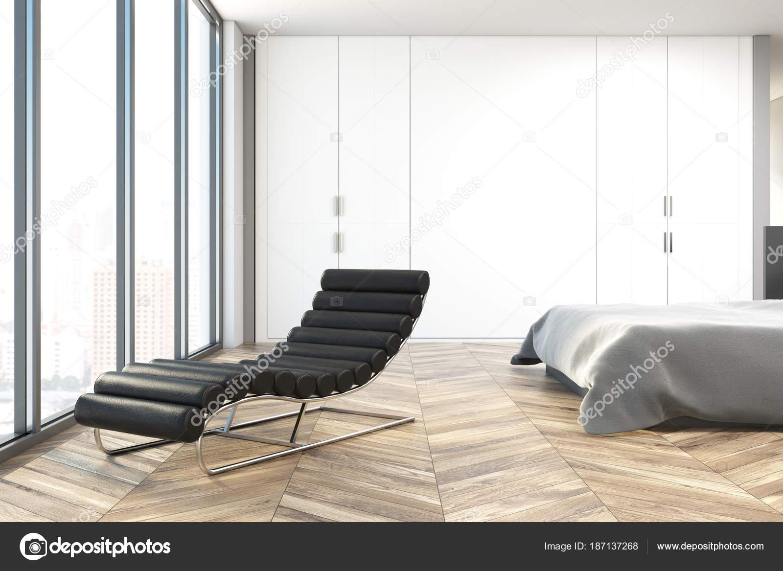 Weiße Schlafzimmer interior, Sessel — Stockfoto © denisismagilov ...
