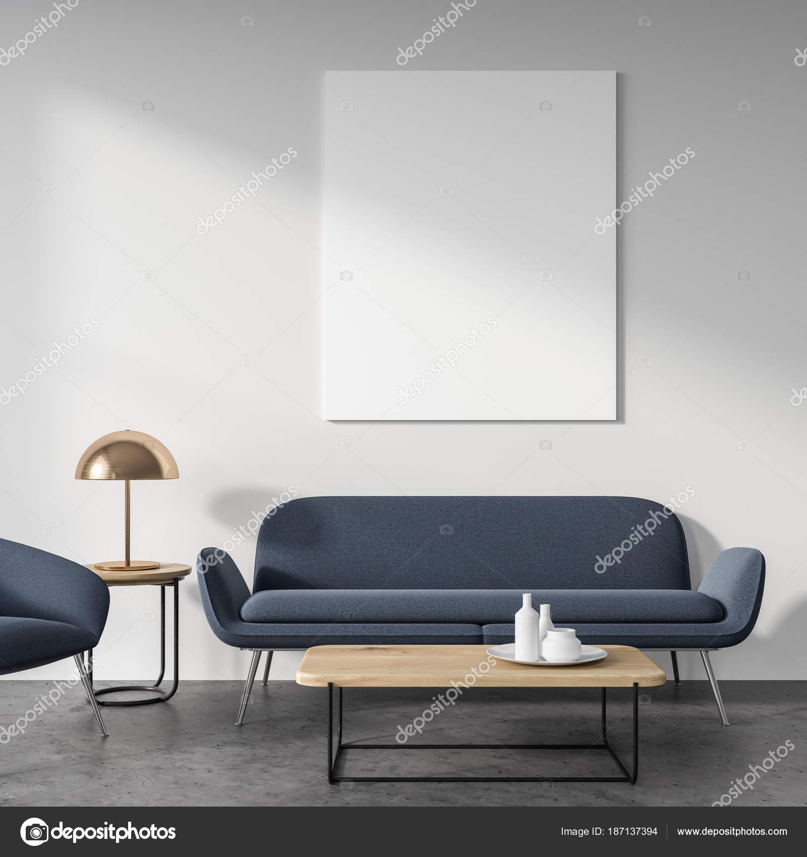 Blanc Salon Canape Gris Affiche Photographie