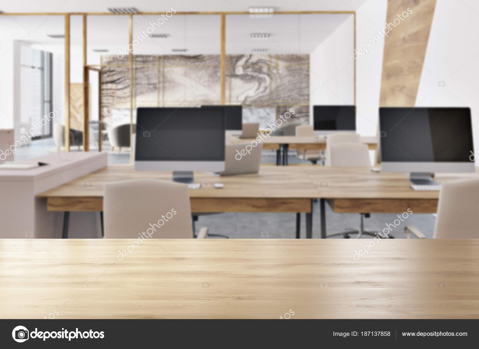Intérieur de bureau en marbre espace ouvert u photographie