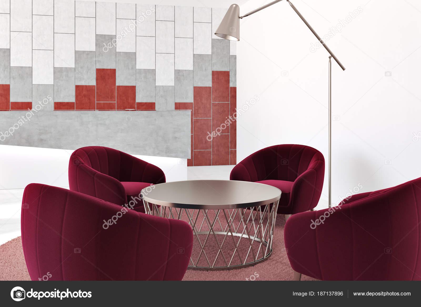 Ufficio Rosso E Bianco : Sala d attesa ufficio bianco e rosso u foto stock denisismagilov