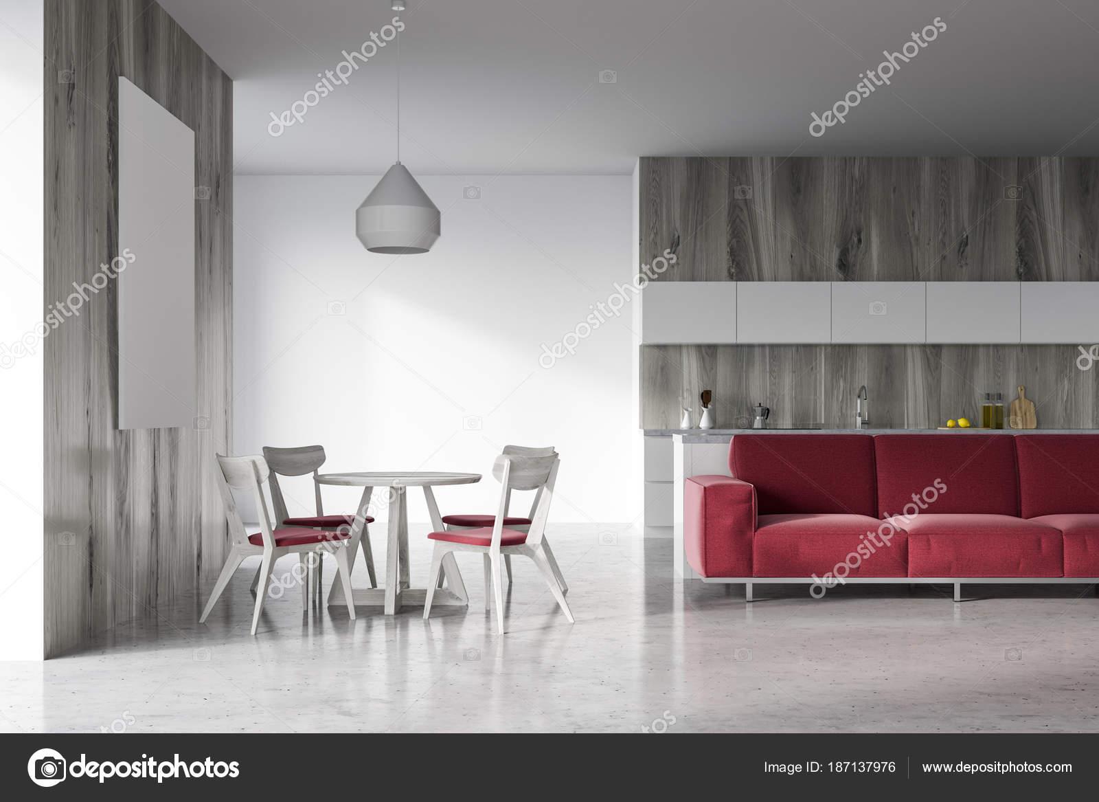 Moderne woonkamer en eetkamer u stockfoto denisismagilov