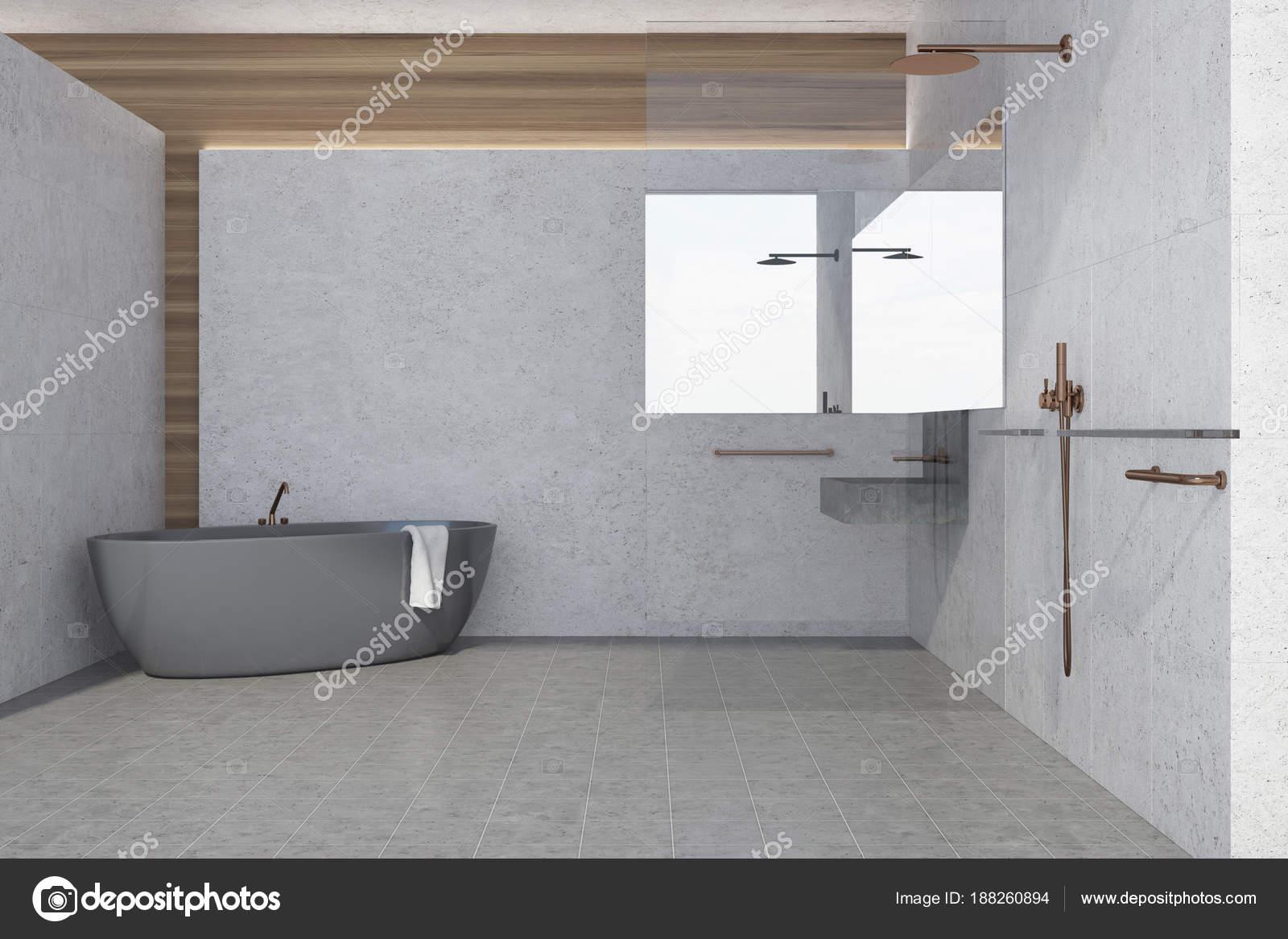 Beton Muur Badkamer : Betonnen muur badkamer interieur grijze tub u2014 stockfoto