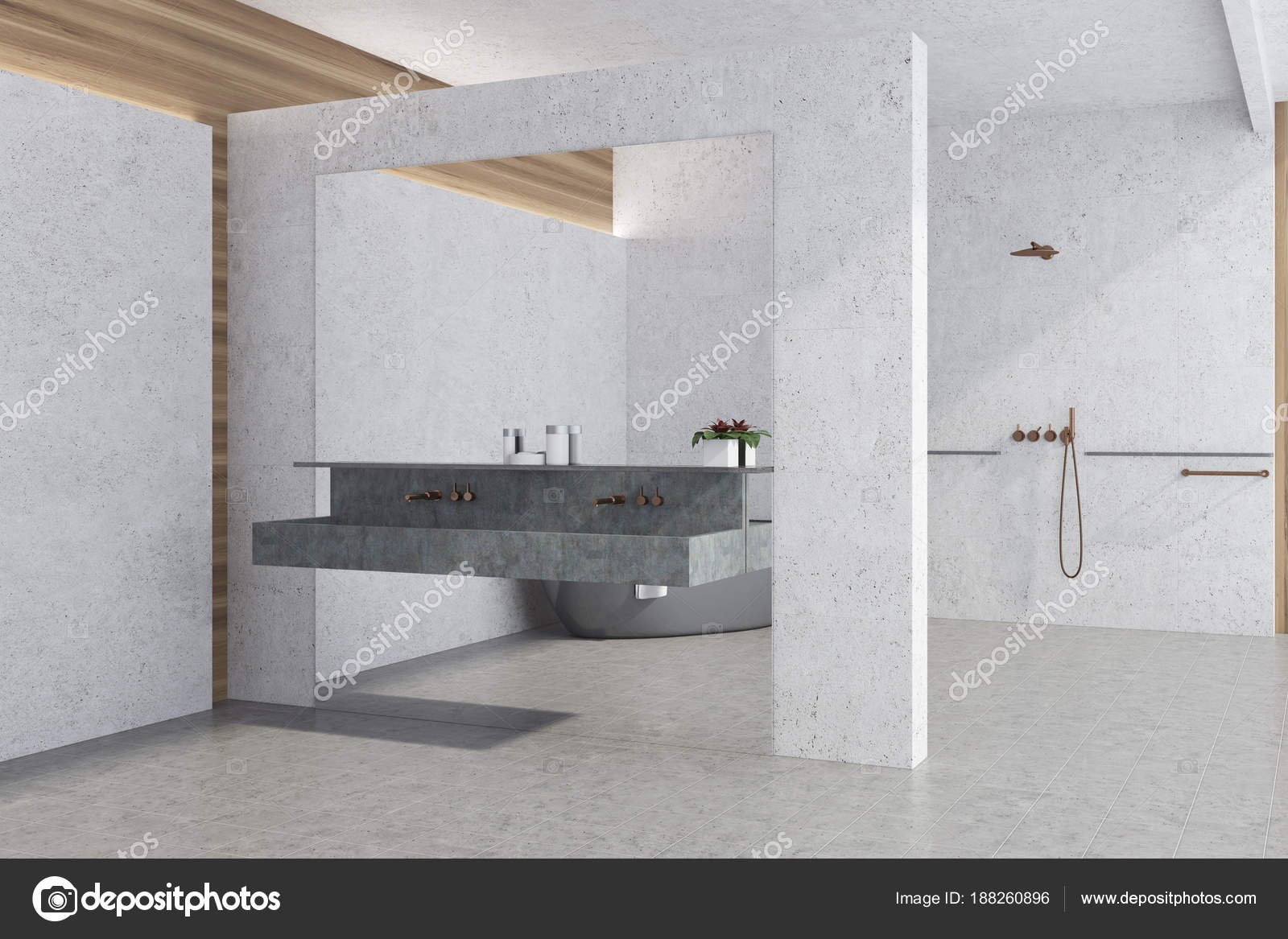 White panoramic bathroom corner — Stock Photo © denisismagilov ...