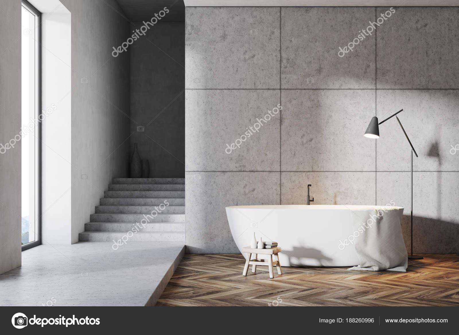 Graue Badezimmer mit Treppe — Stockfoto © denisismagilov #188260996