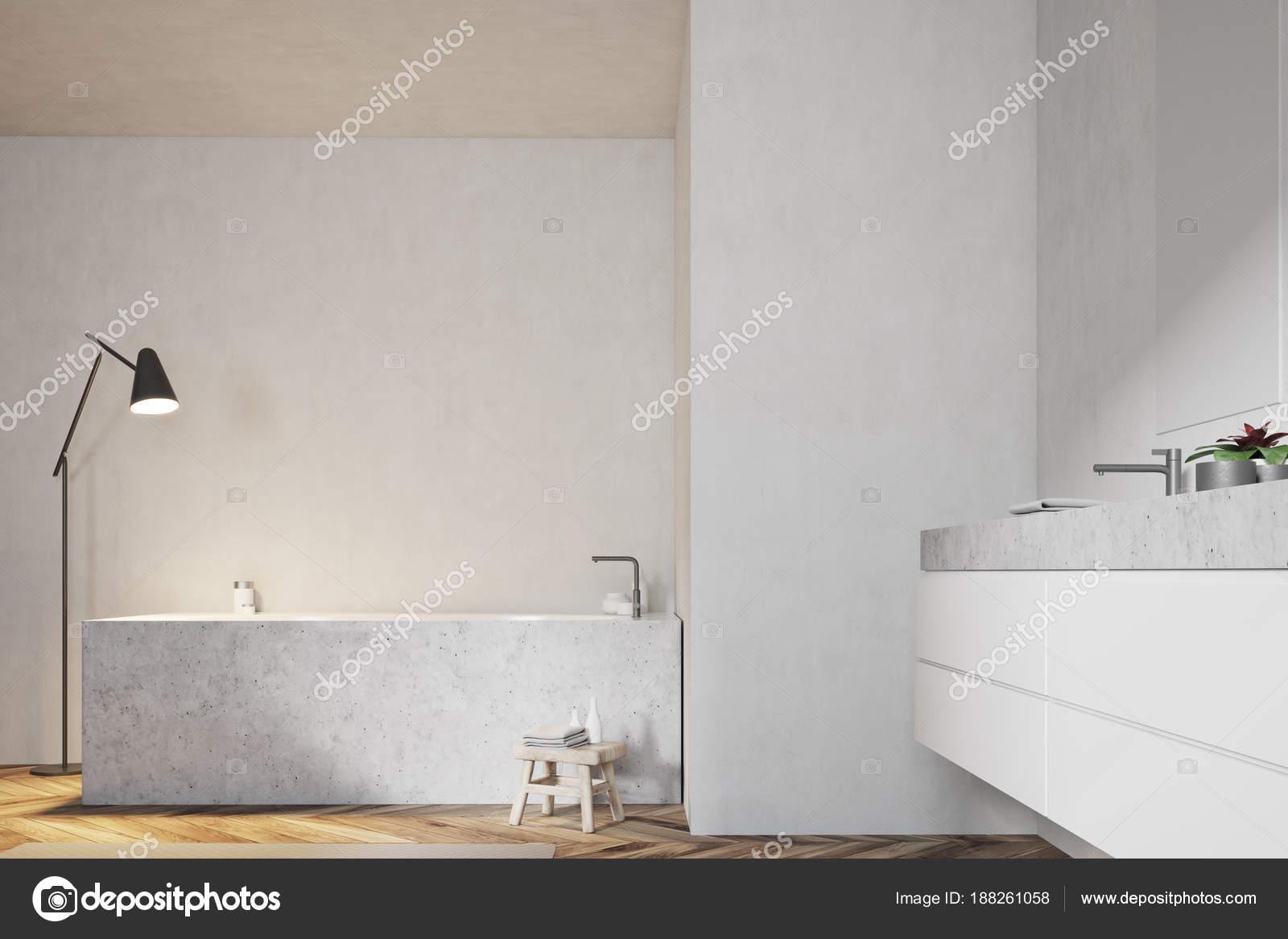Lavello Bagno Angolare : Bagno bianco vasca angolare e lavandino u2014 foto stock
