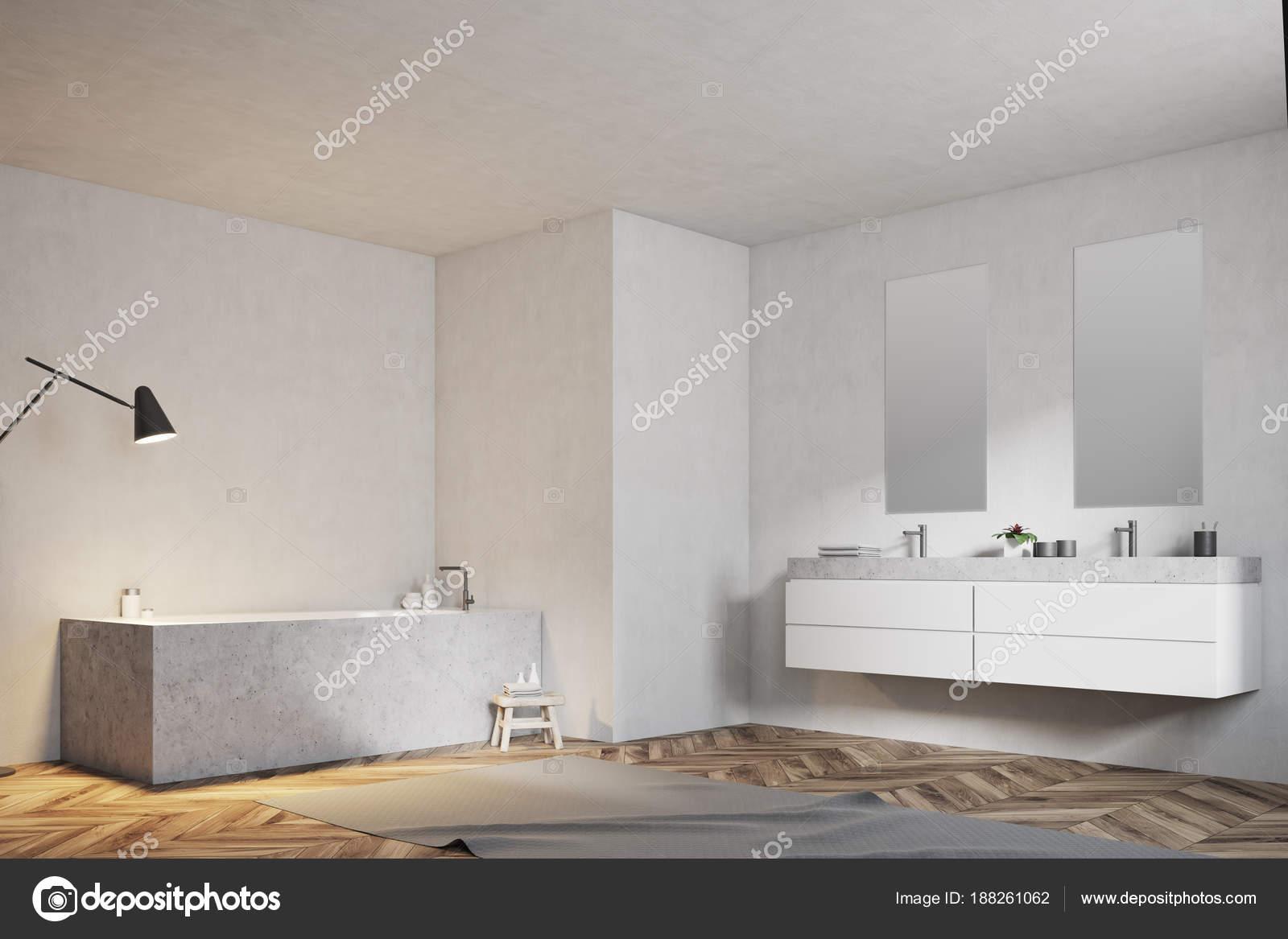 Lavello Bagno Angolare : Bagno bianco vasca angolare e lavandino vista laterale u foto