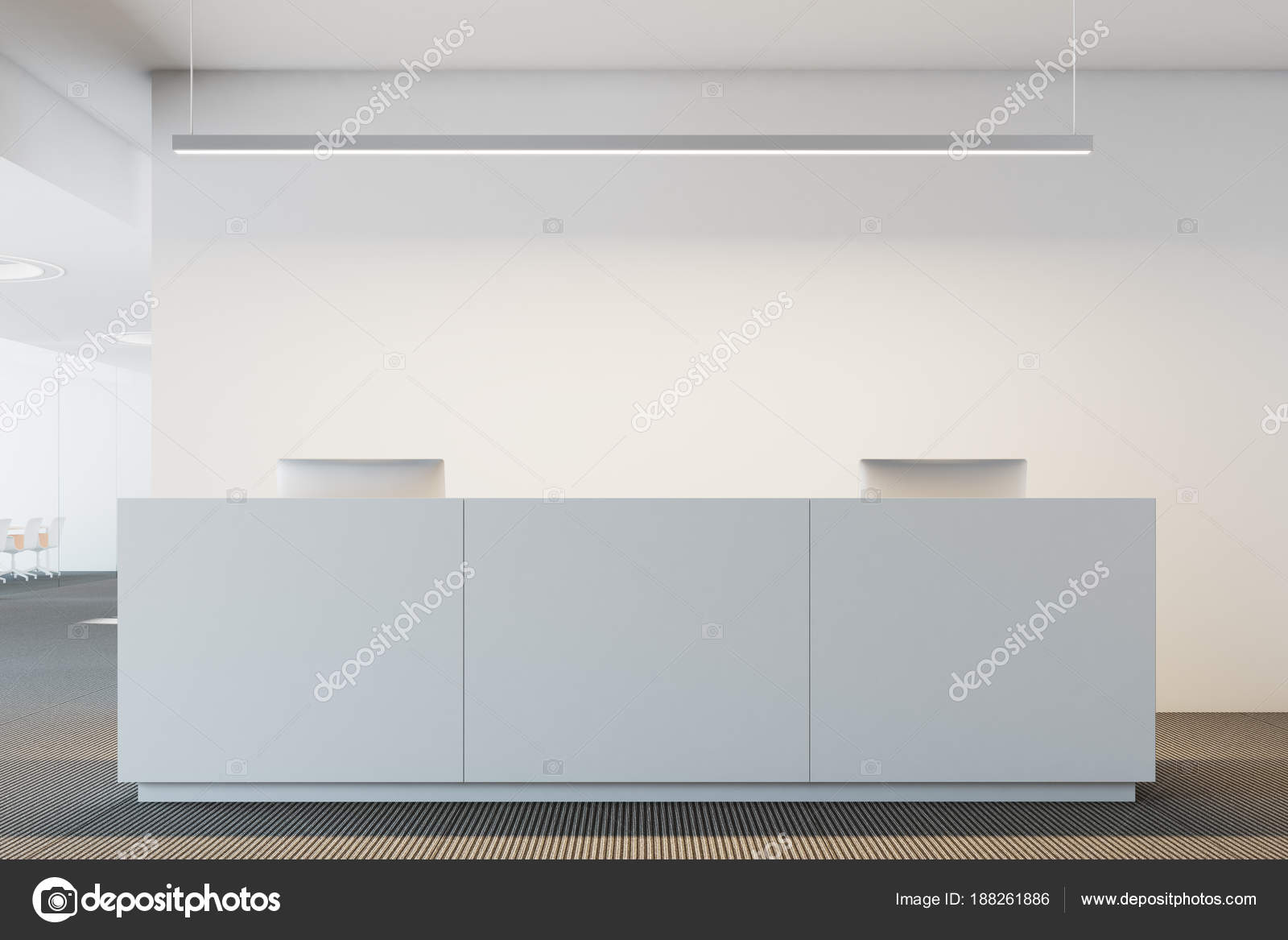 Reception Ufficio Bianco : Bianco ufficio reception u foto stock denisismagilov