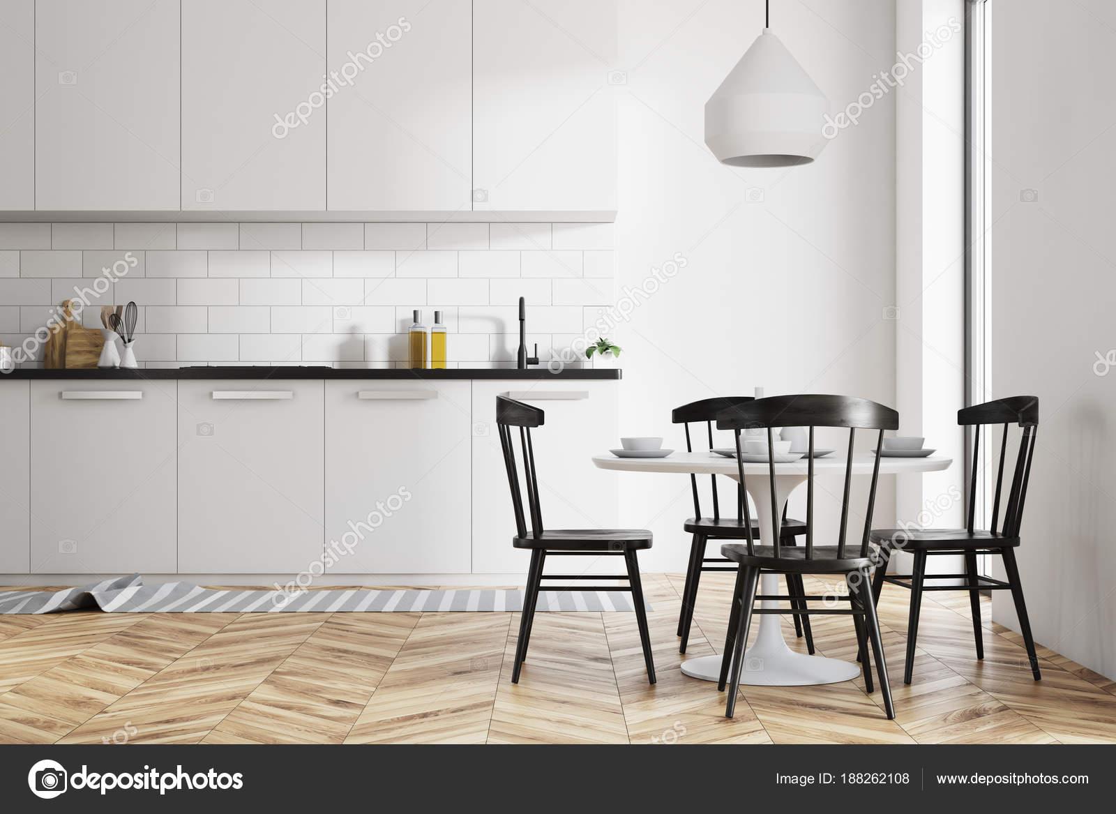 Witte eetkamer en keuken — Stockfoto © denisismagilov #188262108