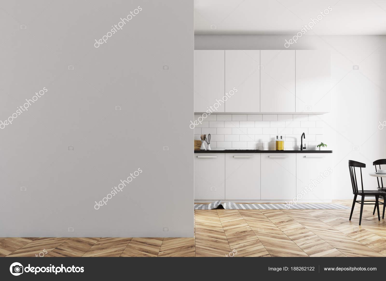 Comptoirs de cuisine en brique blanche intérieur, blanc, mur ...