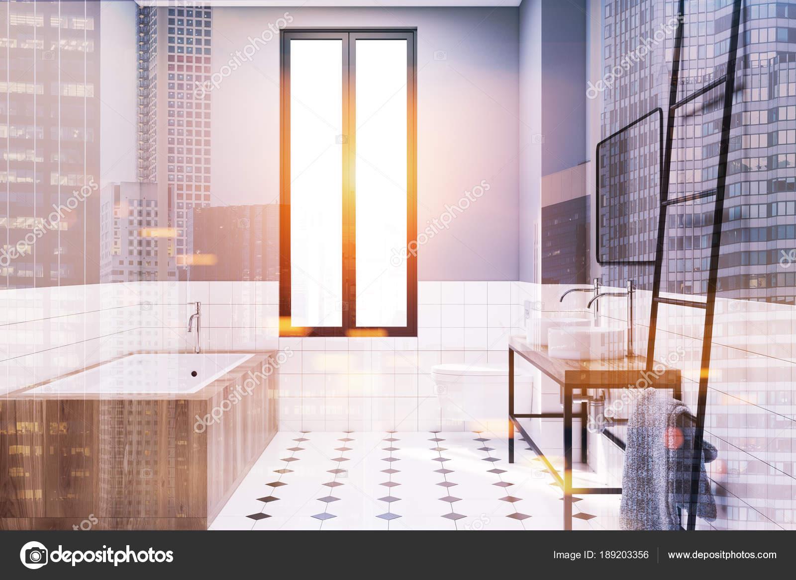 Decoratie Ladder Badkamer : Moderne grijze badkamer decoratie idee toned u stockfoto